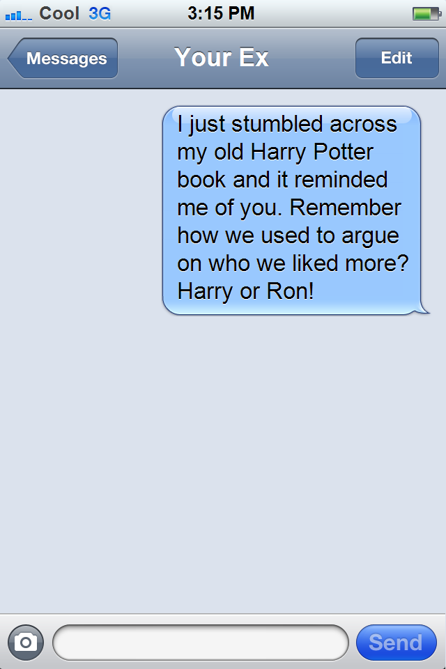Text messages to ex girlfriend