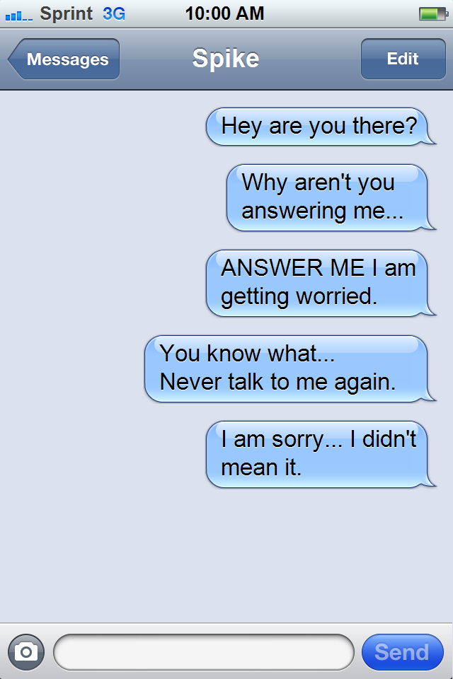 no response to flirt text message