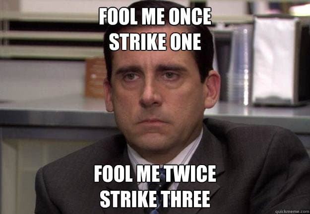 strike three