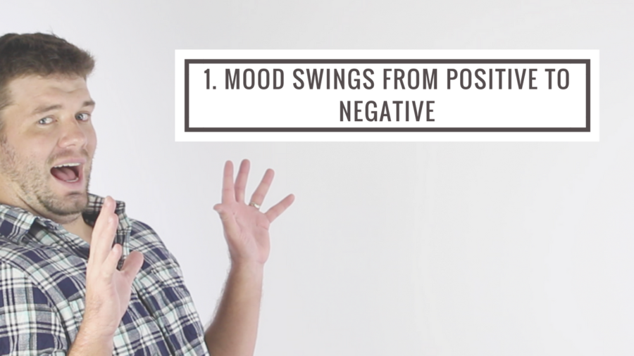 mood swings from positive to negative