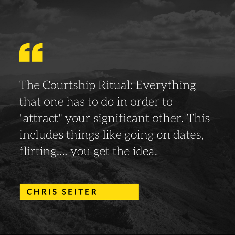 the courtship ritual