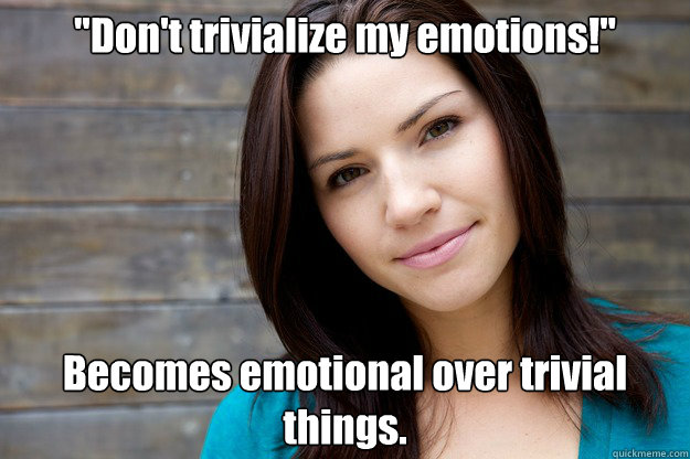 emotional woman