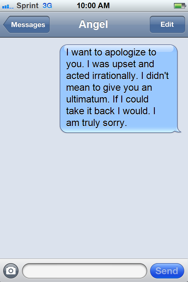 Apology text message to your boyfriend