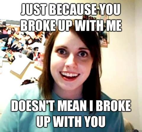 crazy breakup girl