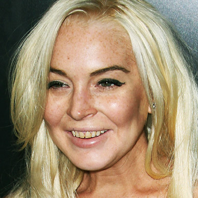 lindsey lohan skin and smile