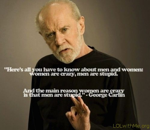 george carlin men vs women