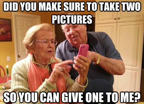 two pictures grandma