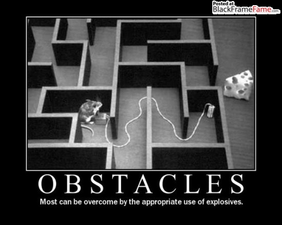 obstacle explosives