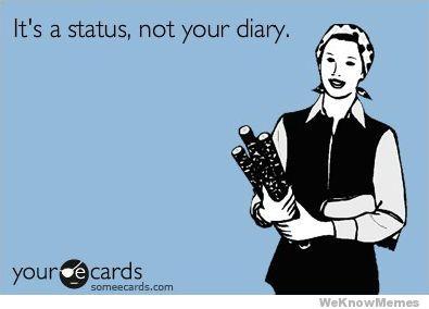status not diary