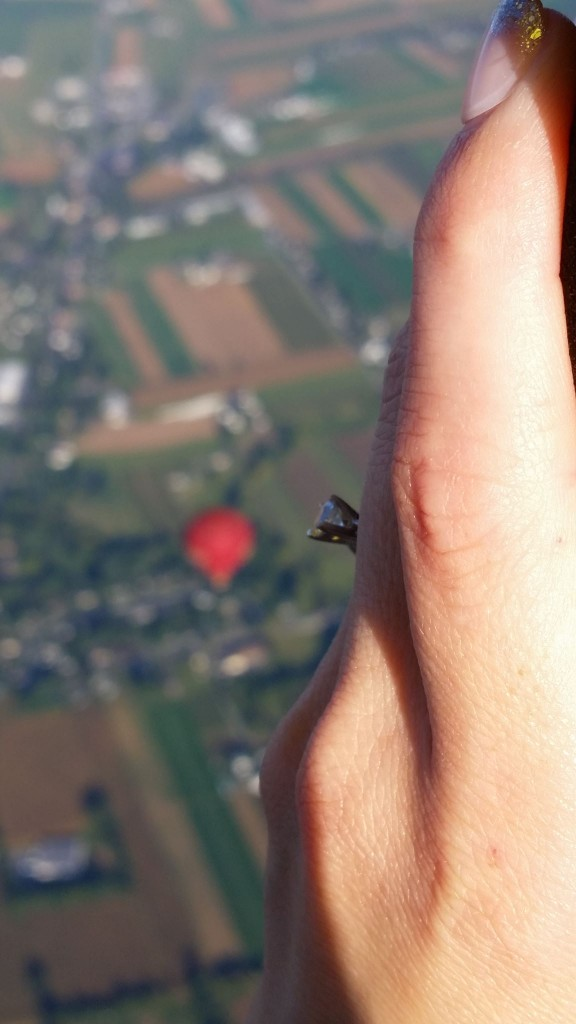 shot from the balloon