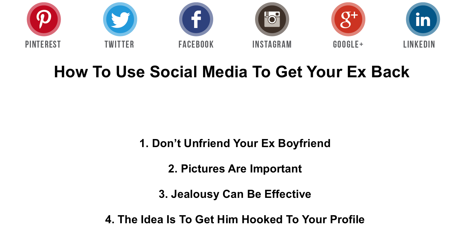 Using Social Media To Get Your Ex Boyfriend Back
