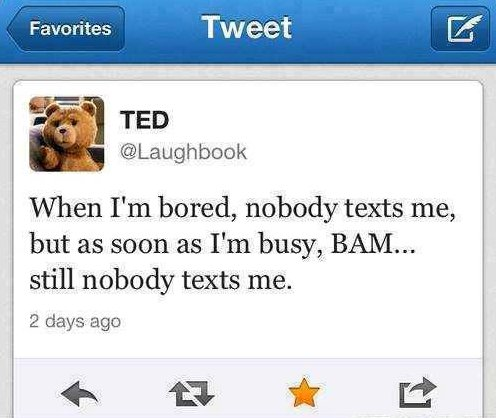 no one texts