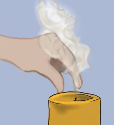 Snuff a candle